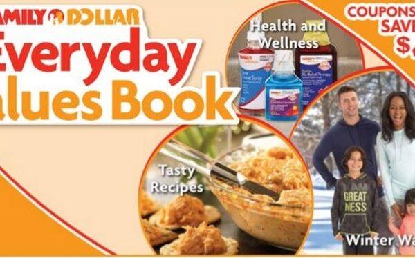 Family Dollar Monthly Deals thru 1/31