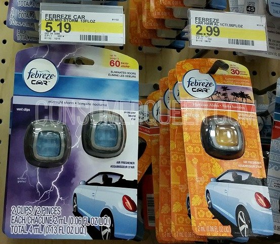 Febreze Car Clips & Ar Effects as Low as 77¢ + Unstopables Deal at Target!