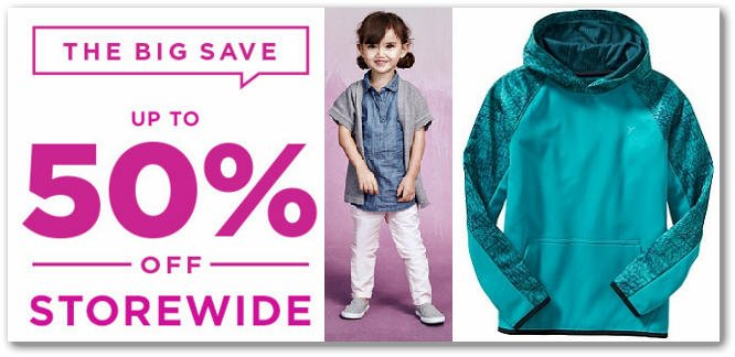 Old Navy: Save 50% Storewide + Free Shipping Today Only!