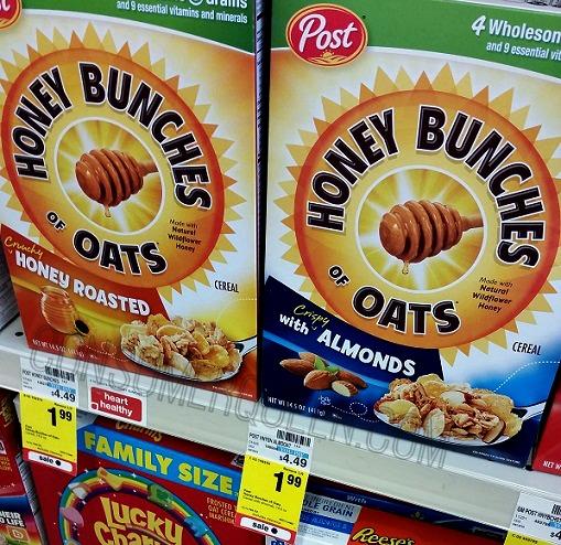 Post & Kelloggs Cereal as Low as 87¢ at CVS, 97¢ at Walgreens!