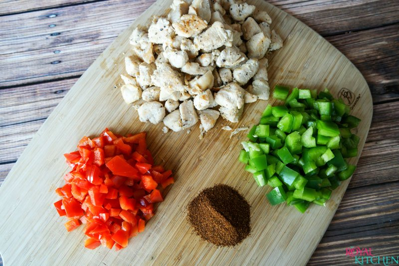 Chili Chicken and Rice Prep