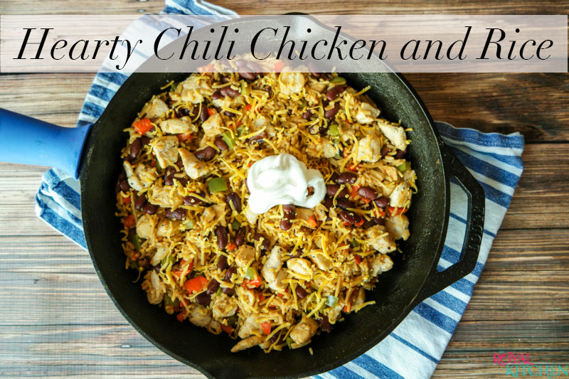 Hearty Chili Chicken and Rice Skillet Meal