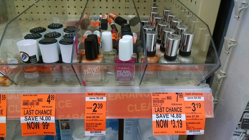 Nail Polish (and more) on Clearance at Walgreens
