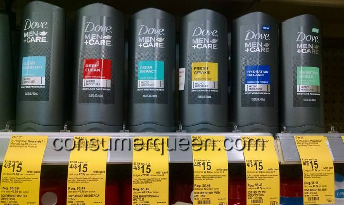 Dove Men+Care Deodorant and Body Wash $1.46 Each at Walgreens