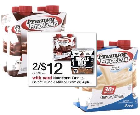 Premier Protein Shakes 4pk $1.94 at Walgreens