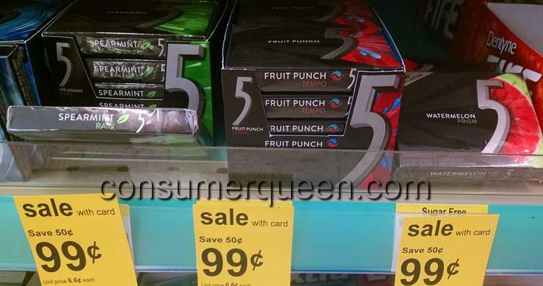 Wrigleys 5 Gum 49¢ at Walgreens