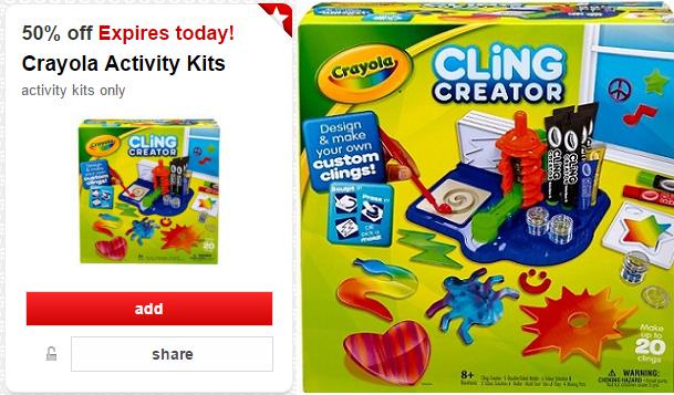 Select Crayola Activity Kits 50% Off With New Target Cartwheel!