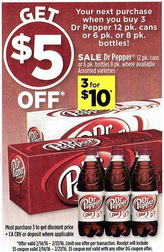 Dollar General: Great Dr. Pepper Deal Starting 2/14!