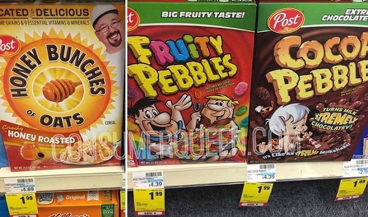 Post Cereals as Low as 74¢ After Cash Back at Walgreens!