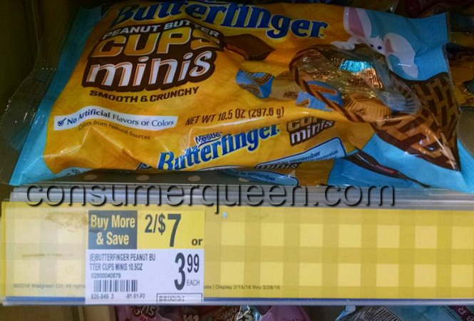 Butterfinger Lay Down Bags $1.50 at Walgreens