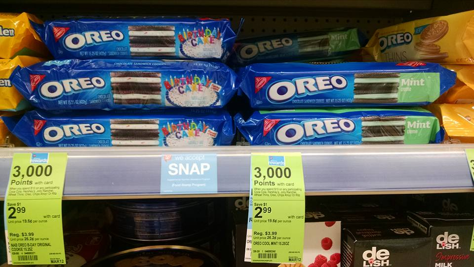 Oreo Cookies (full size) $1.46 at Walgreens thru Tuesday