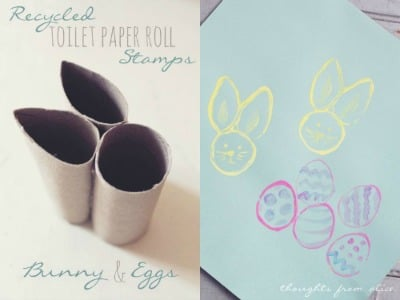 bunny and egg stamps