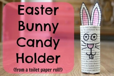 easter bunny candy holder