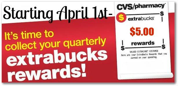 CVS Quarterly ExtraBucks Rewards On April 1st – Scan Those Cards!