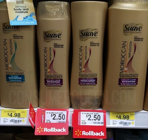 Suave Gold Bottle as Low as $1.00 at Walmart!