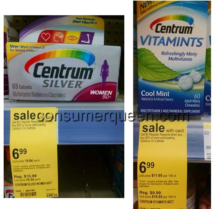 Centrum Vitamins $2.40 At Walgreens