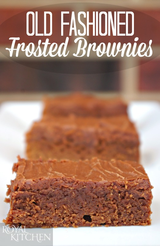 Old Fashioned Frosted Brownies