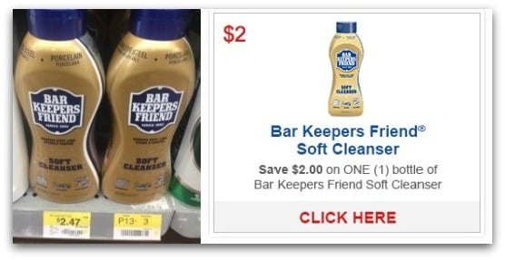 Bar Keepers Friend Soft Cleanser 47¢ at Walmart, 59¢ at Target!