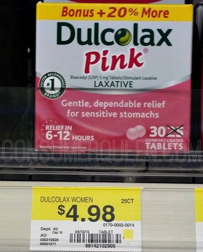Free Dulcolax And Dulcolax Pink At Walmart Amp Target