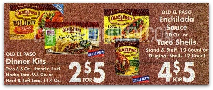 new old el paso coupons homeland update oklahoma 39 s coupon queen. Black Bedroom Furniture Sets. Home Design Ideas