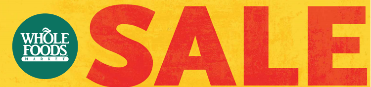 whole foods sale banner