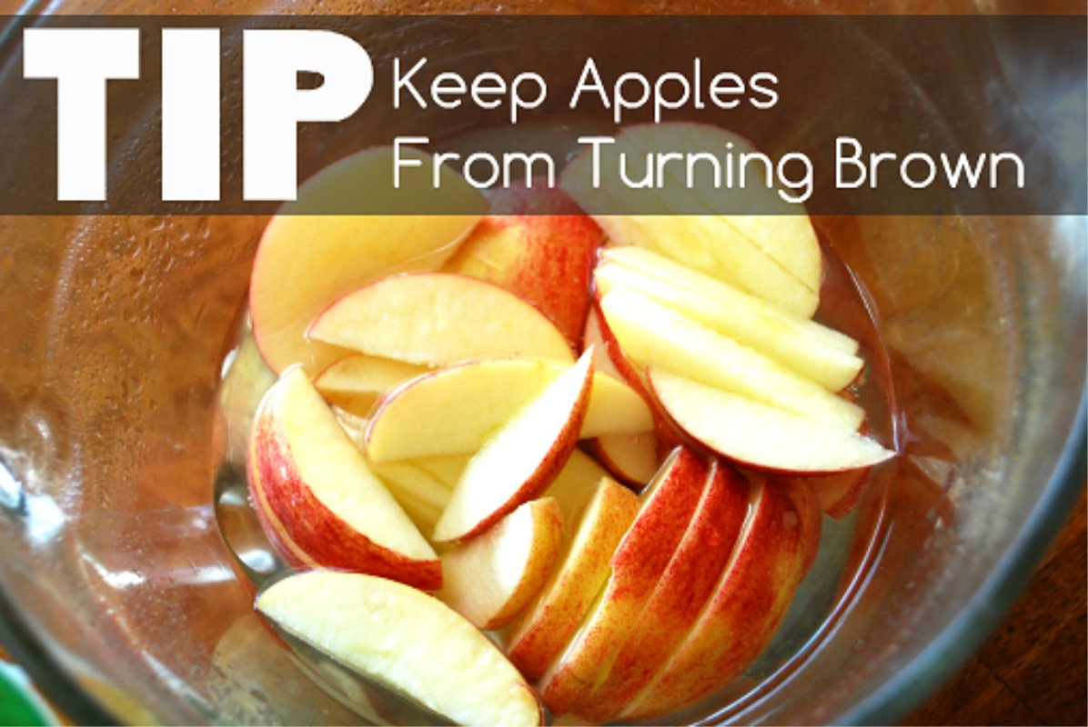 Tip to keep apples from turning brown!