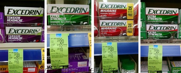 Excedrin Pain Relief As Low As $2.90 Per Bottle At Walgreens