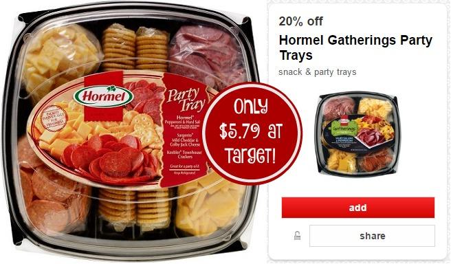 $3.00/1 Hormel Gatherings Tray + Target Deal!