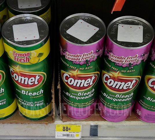 Comet Cleanser 19¢ at Homeland, 58¢ at Walmart!