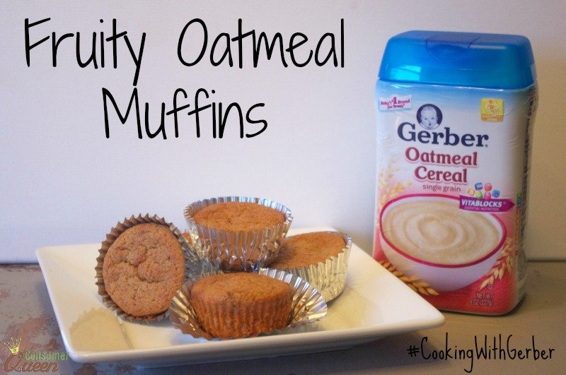 fruity oatmeal muffins