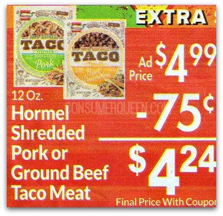 Hormel Taco Meat ONLY $2.24 at Homeland!