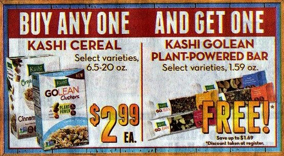 Kashi Cereal $1.24 + FREE Kashi Bar at Sprouts, 88¢ at Target!