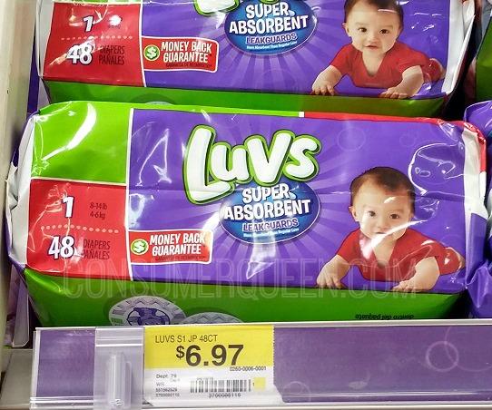 Luvs Coupon Reset – Under $3 at Target & Walmart!