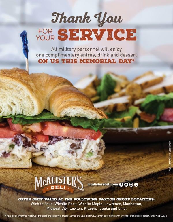 memorial day meal deals