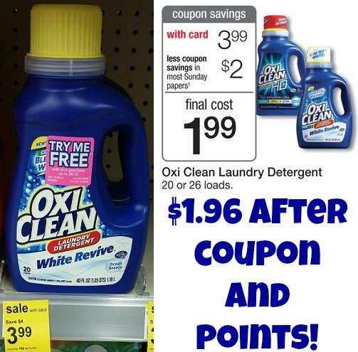 OxiClean Detergent ONLY $1.99 at Walgreens & Rite-Aid!