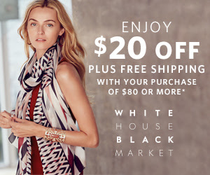 White House Black Market Deal! Save $20 + FREE Shipping