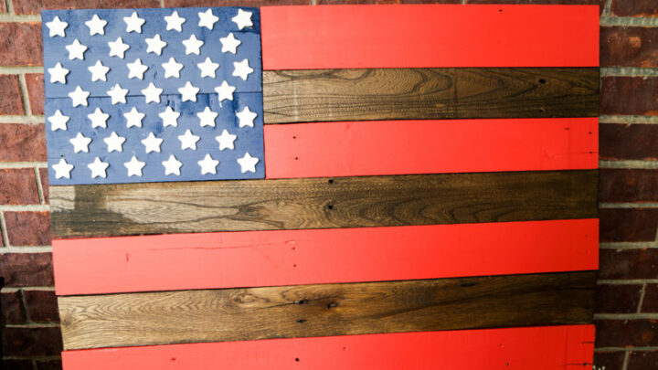 Diy American Flag Pallet Project Great
