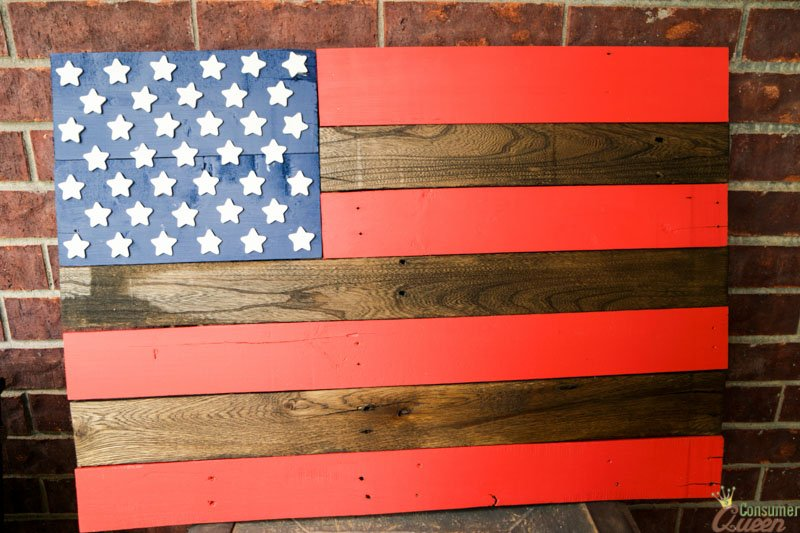 Diy American Flag Pallet Project Consumer Queen