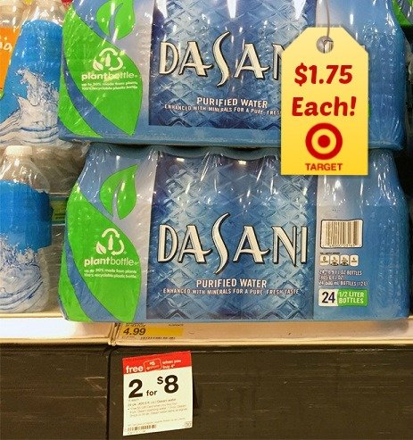 Dasani water coupons