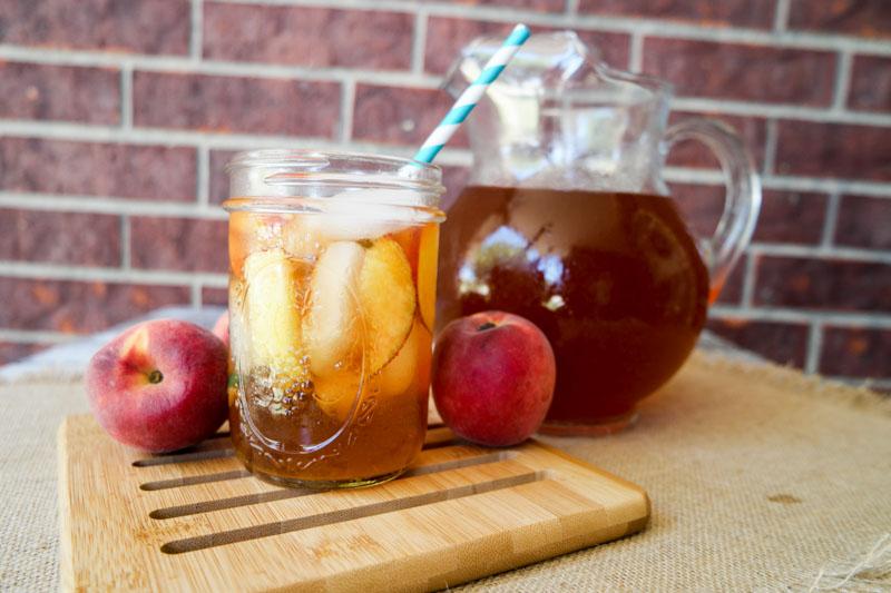 Homemade Peach Tea