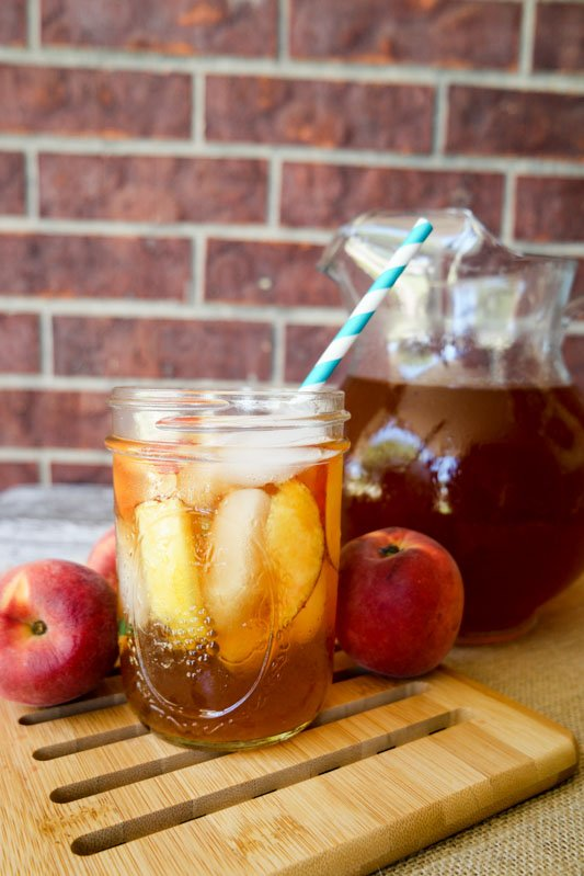 Homemade Peach Tea With Lipton!