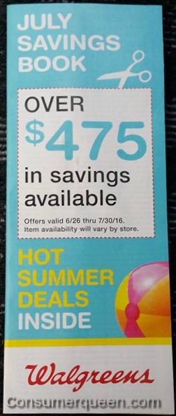 July Savings Book at Walgreens