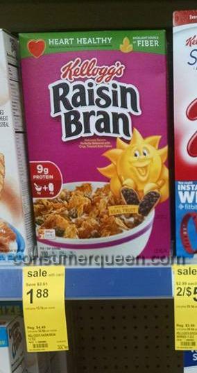 Raisin Bran Cereal $1.38 at Walgreens
