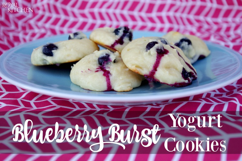 Blueberry Burst Yogurt Cookies