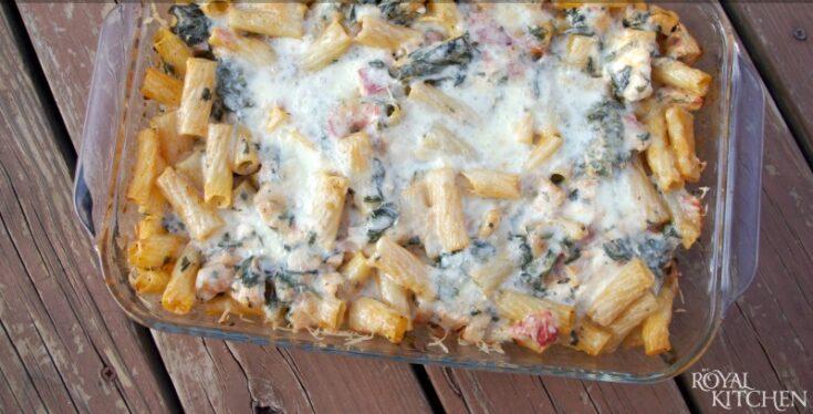 Chicken Spinach Pasta Bake