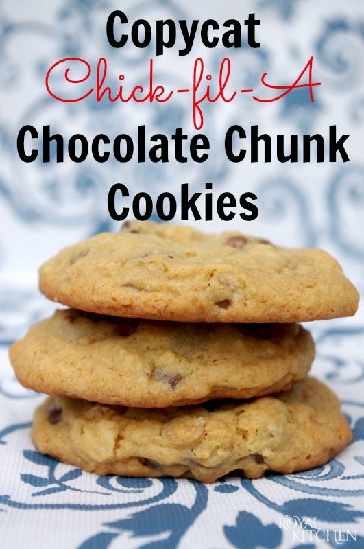 Copycat Chick-fil-A Chocolate Chunk Cookies