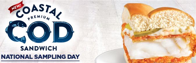 FREE Coastal Cod Sandwich at Long John Silvers!