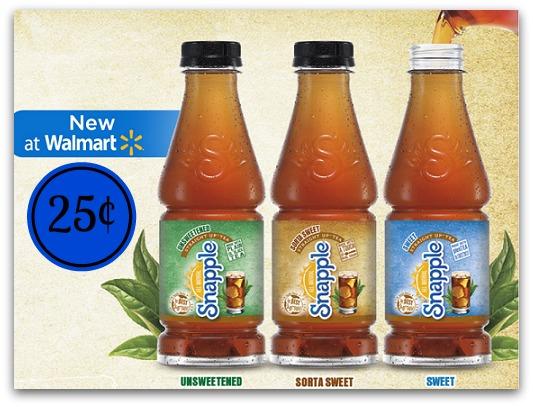 Snapple Tea 25¢ at Walmart!