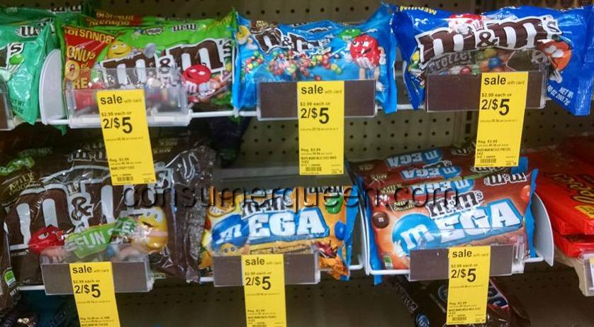 M&M's Candy $1.25 Per Bag at Walgreens