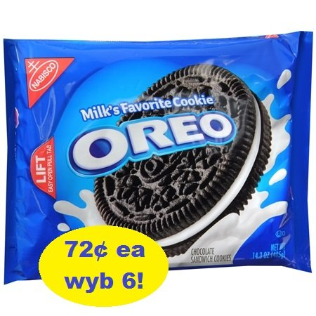Full-Size Oreo Cookies 72¢ at Walgreens